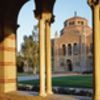 View of Powell Library from Royce Hall at UCLA